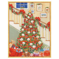 Tree and Staircase Holiday Cards