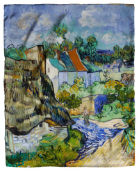 Van Gogh, Houses at Auvers Scarf