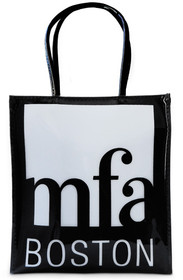 MFA Boston Logo Black Vinyl Tote