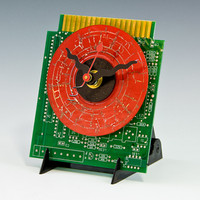 Pocket CD on Mini Circuit Board Computer Art Clock