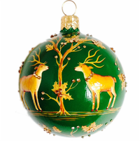 Beguiling Orb Green & Gold Ornament