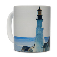 Hopper, Lighthouse and Buildings Mug