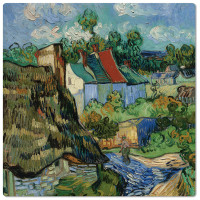 Van Gogh Houses at Auvers Coaster