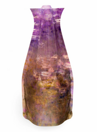 Monet Water Lilies Purple Vase