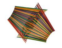 Large Chopstick Folding Basket in Rainbow