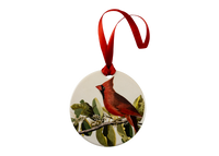 Cardinal Grosbeak Holiday Ornament