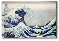Hokusai Great Wave  Acrylic Magnet