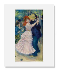 Pierre-Auguste Renoir, Dance at Bougival 8 x 10 Matted Print