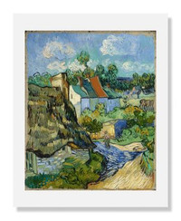 Vincent van Gogh, Houses at Auvers 8 x 10 Matted Print