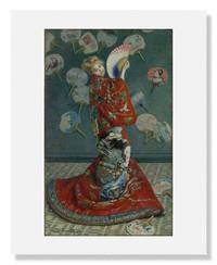Claude Monet, La Japonaise 8 x 10 Matted Print