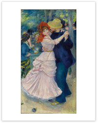 Renoir, Dance at Bougival 11 x 14 Matted Print