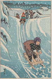 MFA Riding on Snow Holiday Cards