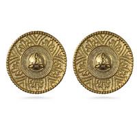 Castellani Granulated Clip Earrings
