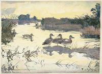 Frank Weston Benson, Currituck Marshes, North Carolina