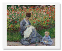 Claude Monet, Camille Monet, and a Child in the Artist's Garden in Argenteuil