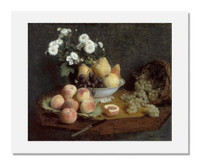 Henri Fantin-Latour, Flowers and Fruit on a Table