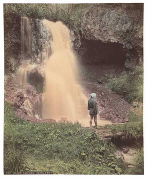 Adolfo Farsari, View of the Blood Cascade, Mount Asama