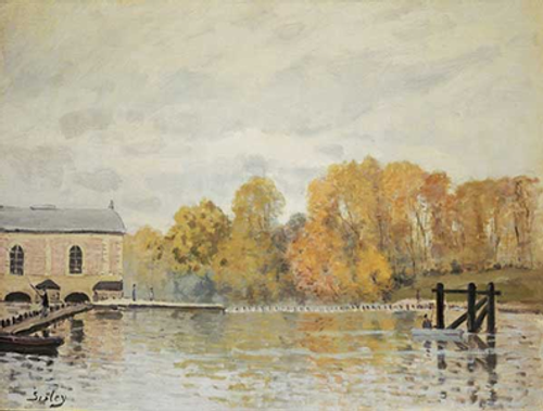 Alfred Sisley, Waterworks at Marly