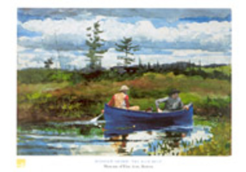 Winslow Homer, The Blue Boat Poster