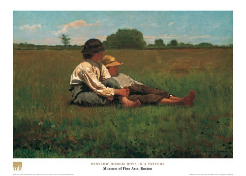 Winslow Homer, Boys in a Pasture Poster