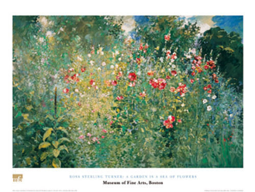 Ross Sterling Turner, A Garden is a Sea of Flowers Poster