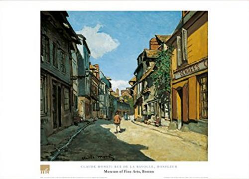 Claude Monet, Rue de la Bavole, Honfleur Poster