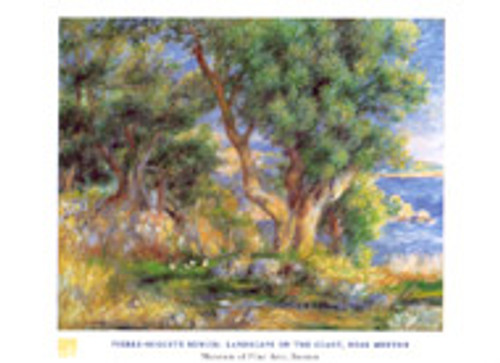 Pierre-Auguste Renoir, Landscape on the Coast Poster