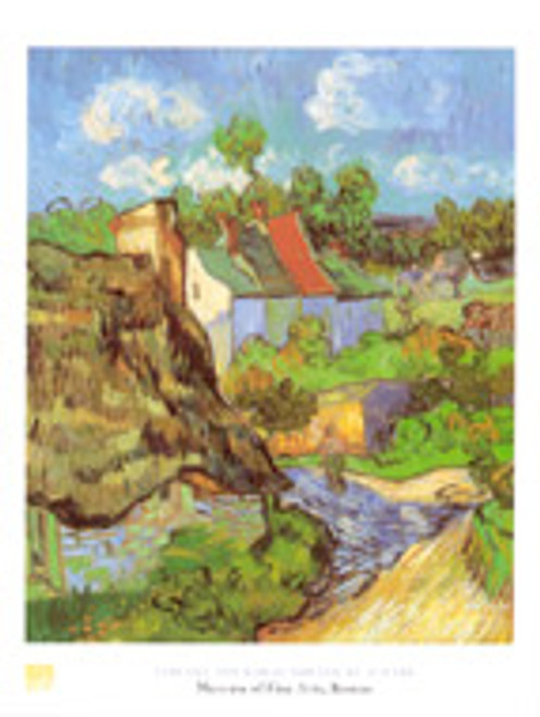 Vincent van Gogh, Houses at Auvers Poster