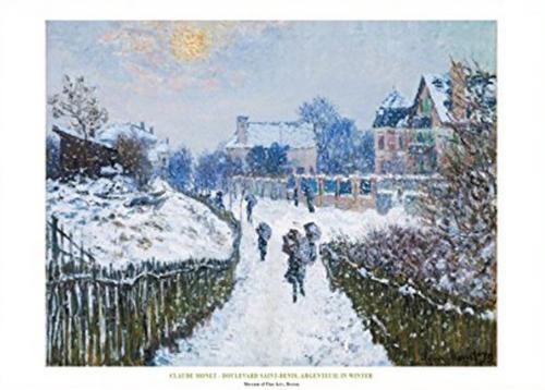 Claude Monet, Boulevard St. Denis Poster