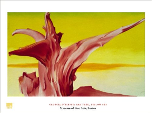 Georgia O'Keeffe, Red Tree, Yellow Sky Poster
