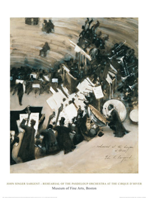 John Singer Sargent, Rehearsal of the Pasdeloup Orchestra at the Cirque d'Hiver Poster
