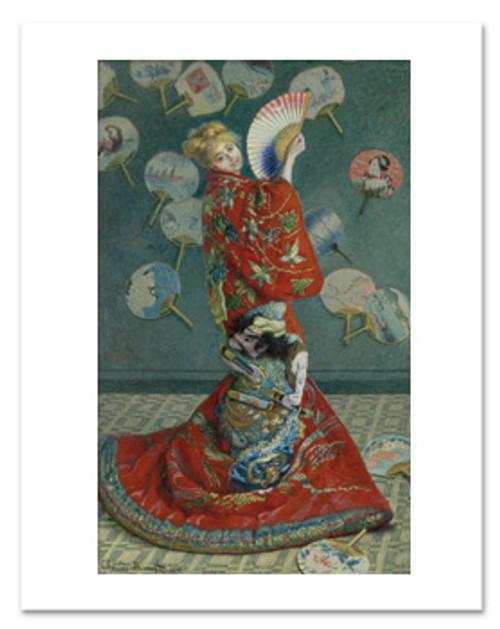 Claude Monet, La Japonaise 11 x 14 Matted Print