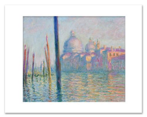 Claude Monet, Grand Canal,  Venice Matted Print