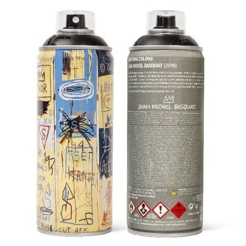 MTN Special Edition Jean Basqiat Spray Paint Can - Matte Black