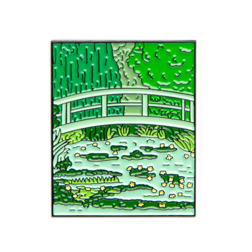 "Claude Monet ""Water Lilies and Japanese Bridge"" Enamel Pin"