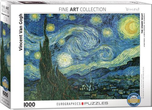 Vincent Van Gogh, Starry Night Puzzle - 1000 Pieces