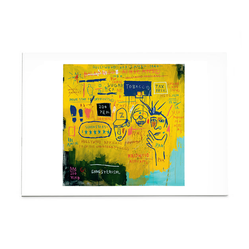 "Basquiat ""Hollywood Africans"" Post Card"
