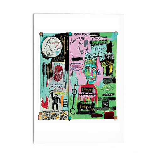 "Basquiat ""In Italian"" Post Card"