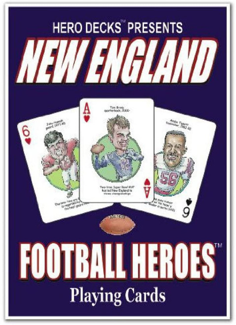 New England Football Heroes Playing Cards