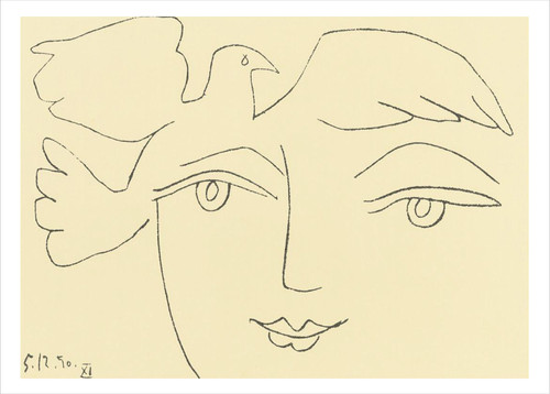 Pablo Picasso, Face of Peace Holiday Cards