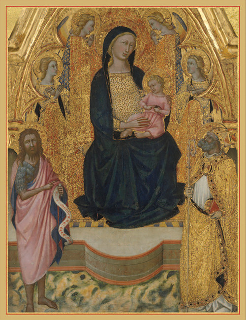 Virgin and Child Enthroned Holiday Cards