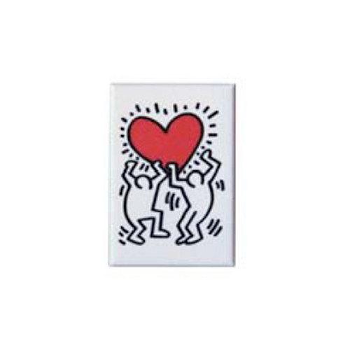 Keith Haring Magnet - Holding Heart