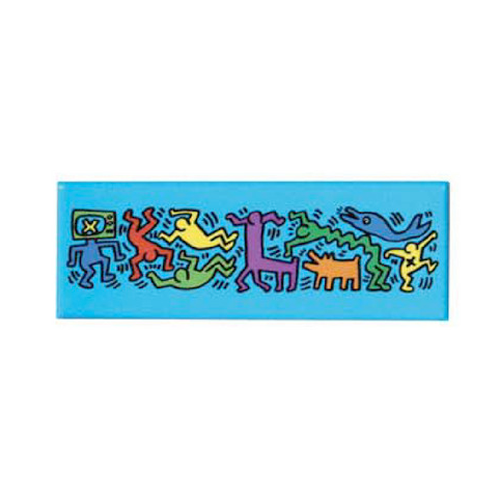 Keith Haring Magnet - Figures Blue