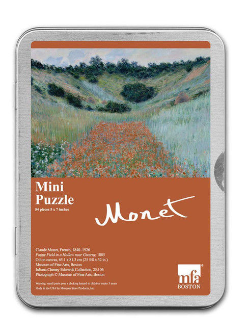 Monet, Poppy Field in a Hollow near Giverny Puzzle - 54 Pieces