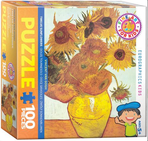 Van Gogh, Sunflowers 100 Piece Puzzle