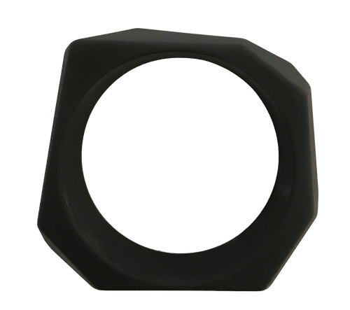 Angle Resin Black Matte Bangle Bracelet