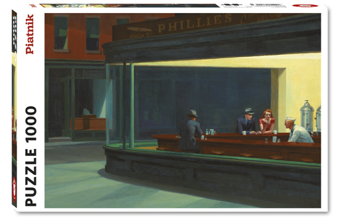 Hopper, Nighthawks Puzzle - 1000 Pieces