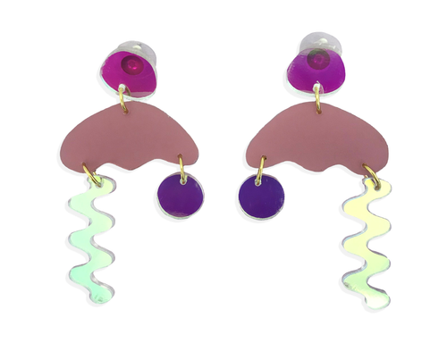 Squiggle Storm Earring