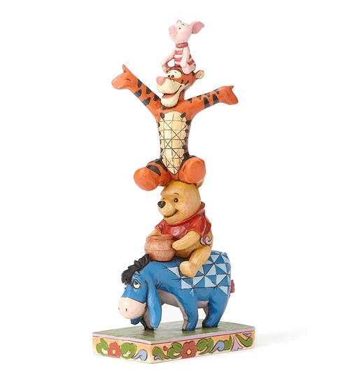 Eeyore, Pooh, Tigger and Piglet Tower Figurine