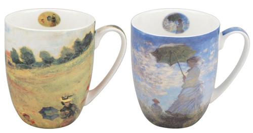Monet Scenes with Women Mug Pair